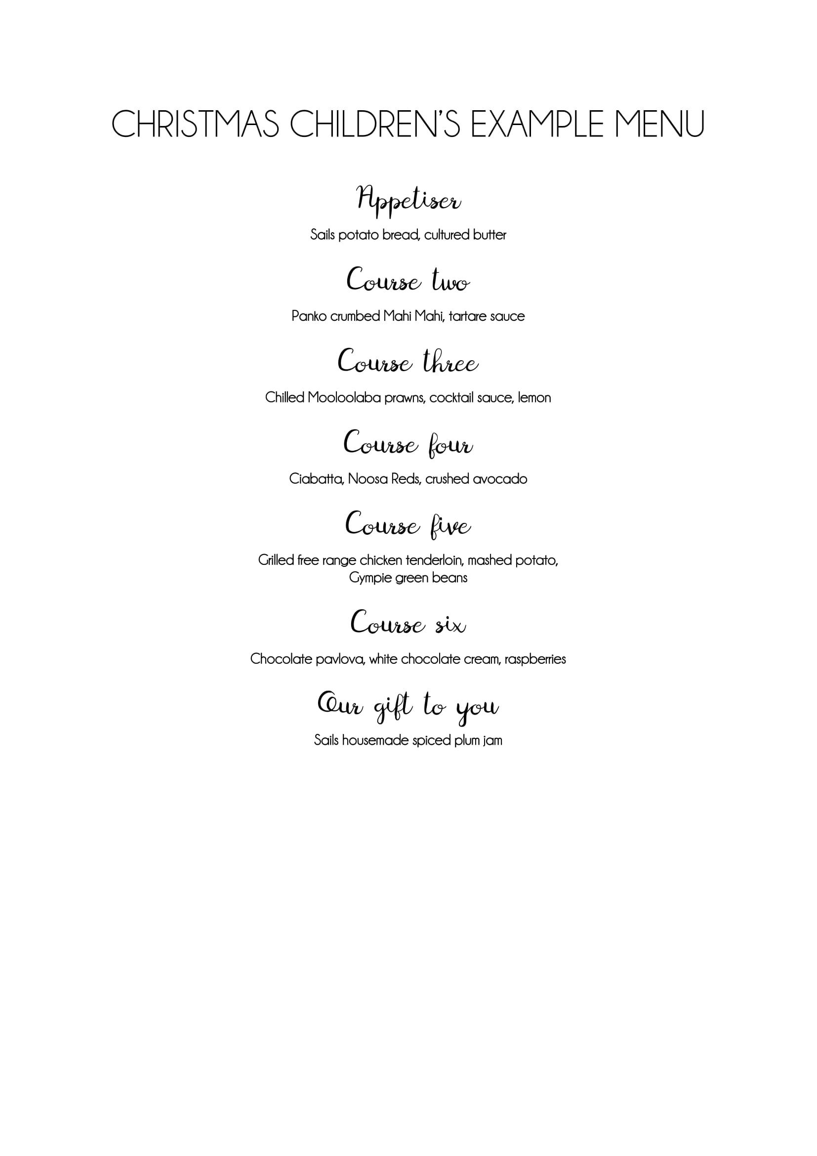 CHRISTMAS Childrens example menu-1