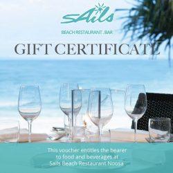Noosa Restaurant Gift Certificates