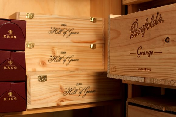 Penfolds and Grange racked together