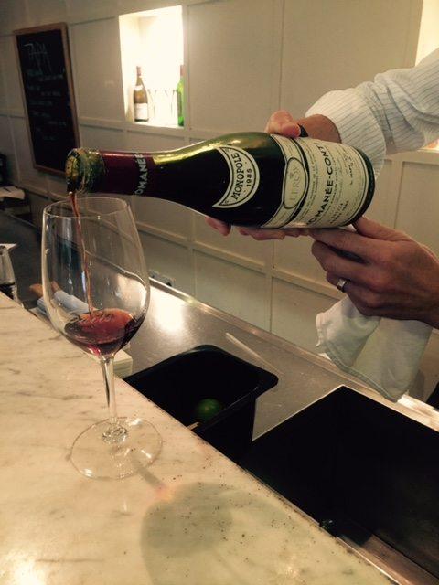 Pour wine shot
