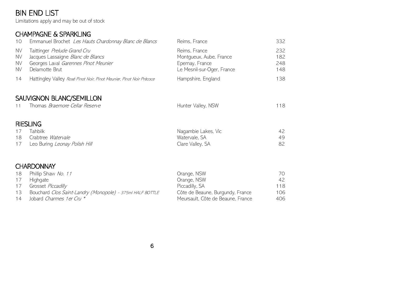 Sails Wine List 2019 Page 006