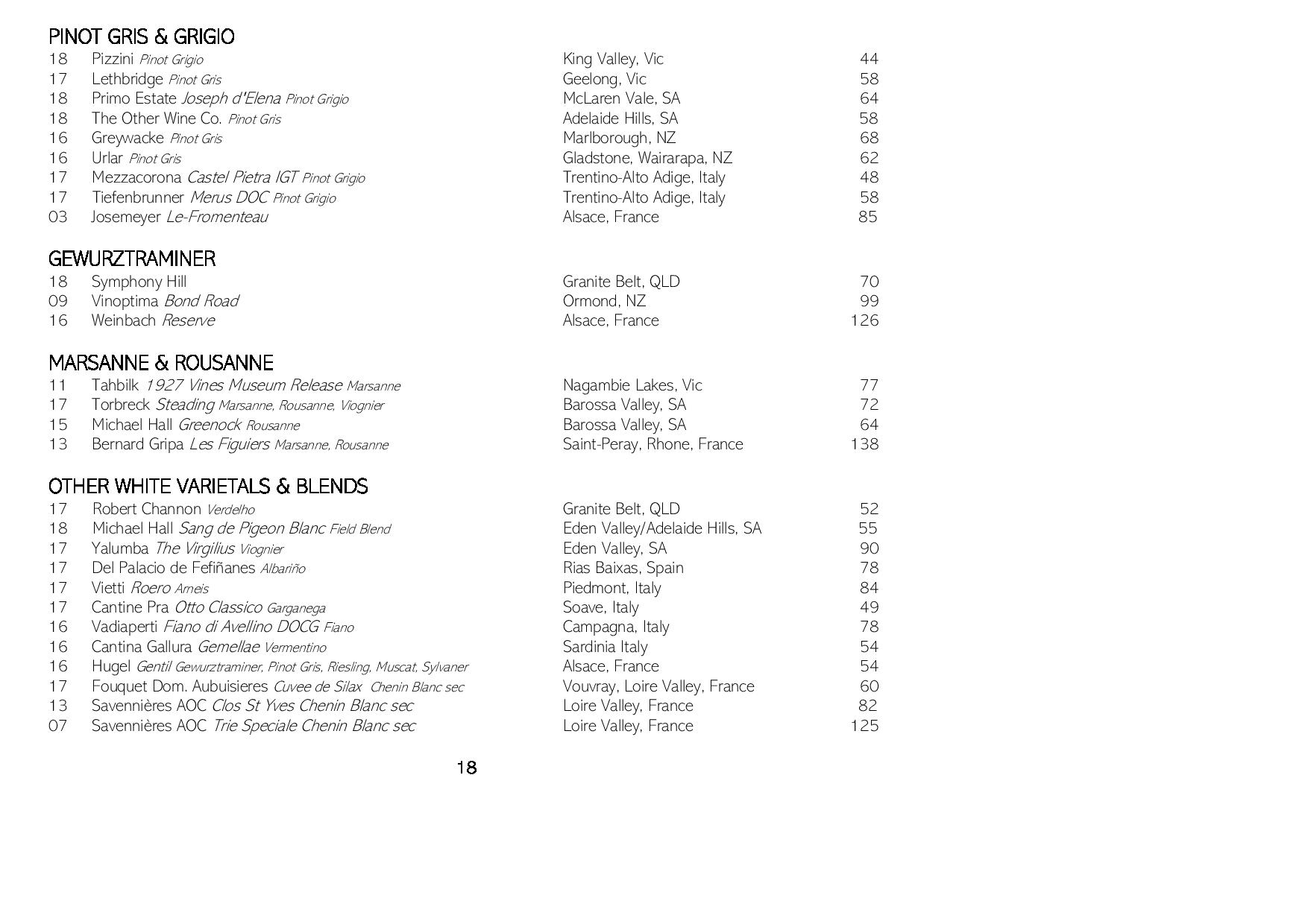 Sails Wine List 2019 Page 018