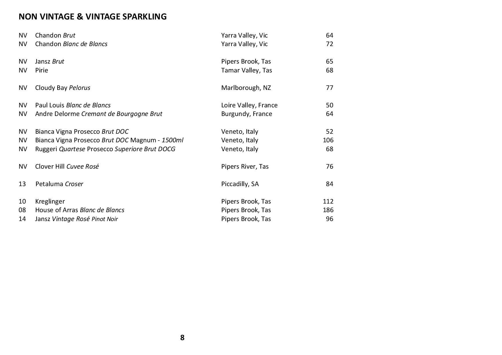 Sails Wine List 2019 Page 008