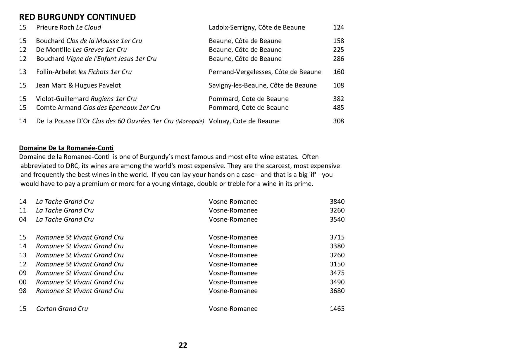 Sails Wine List 2019 Page 022