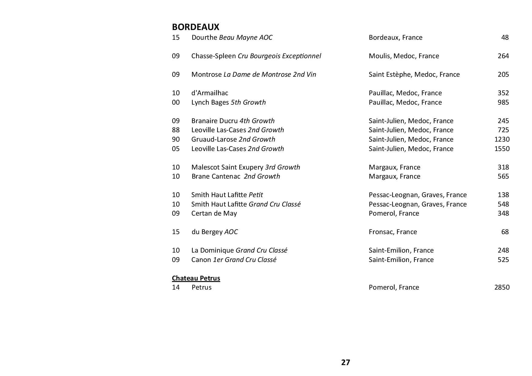 Sails Wine List 2019 Page 027