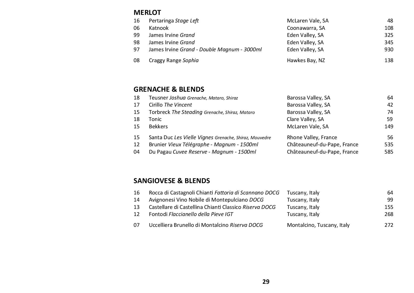 Sails Wine List 2019 Page 029