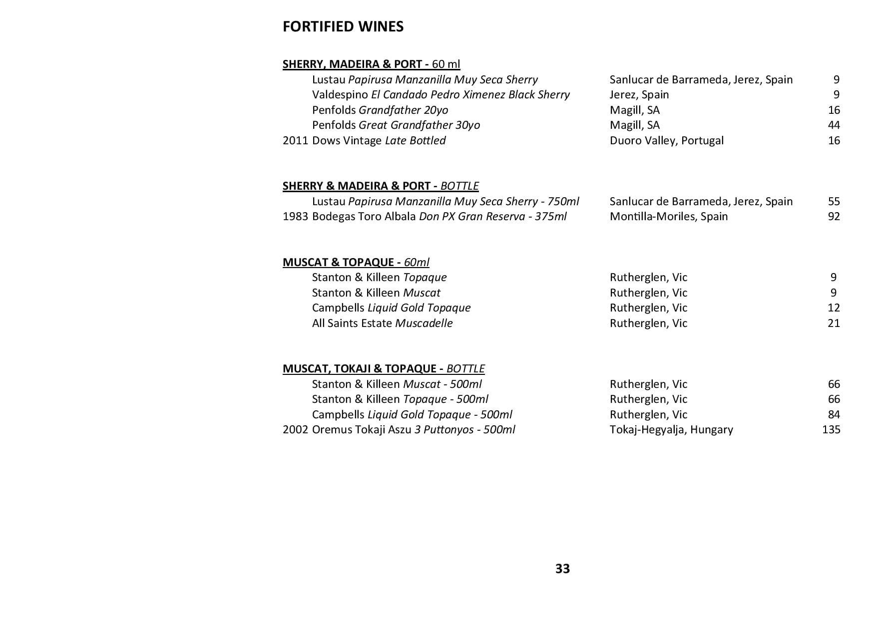 Sails Wine List 2019 Page 033