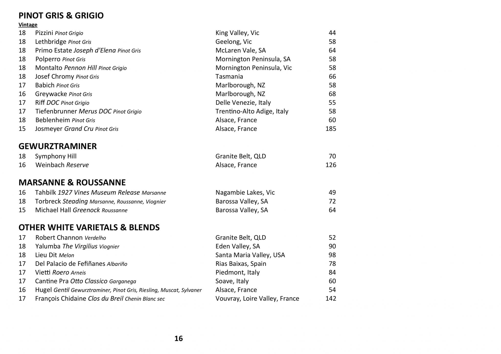 Sails Wine List 2019 Page 016