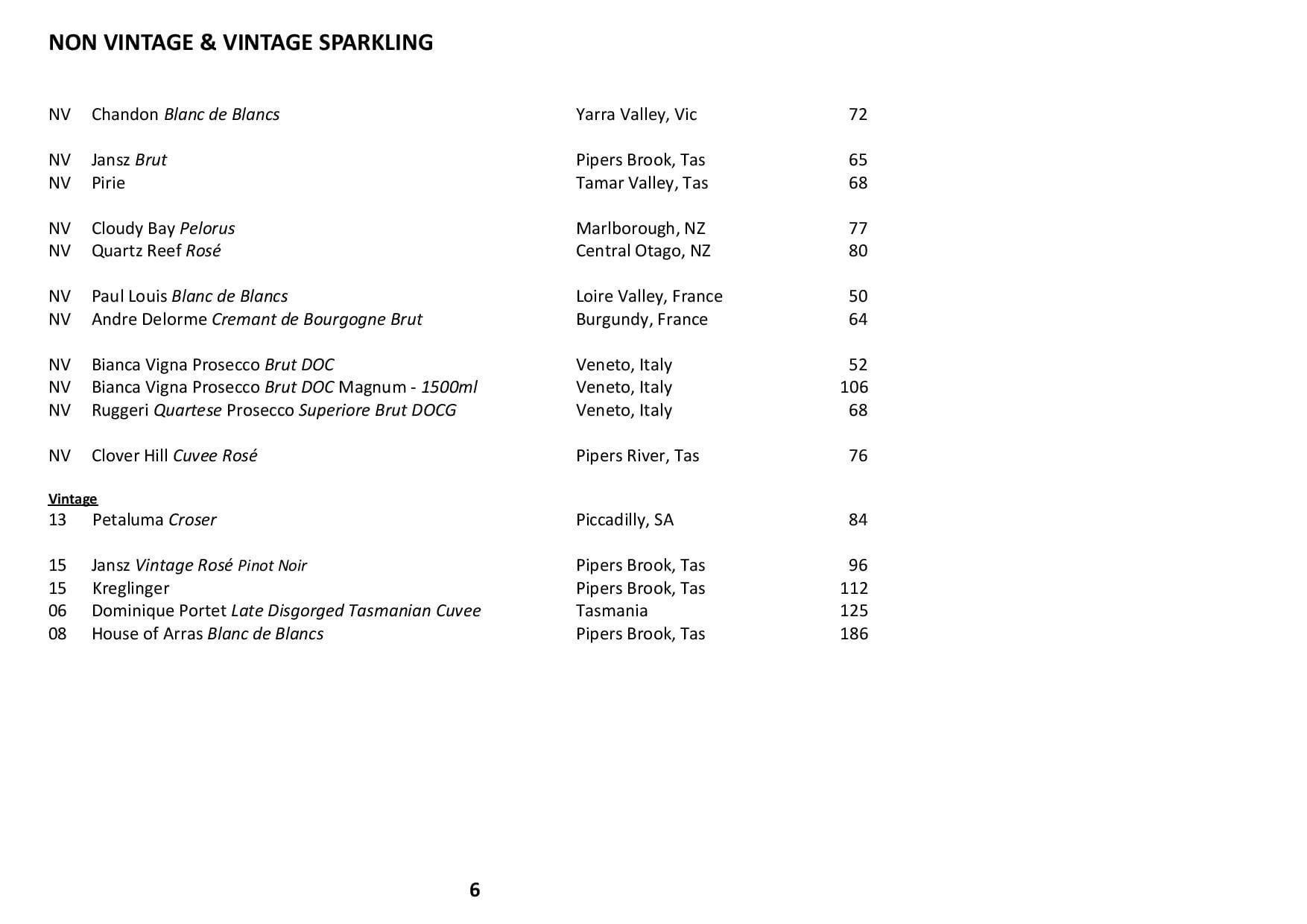 Sails Wine List 2020 Page 006