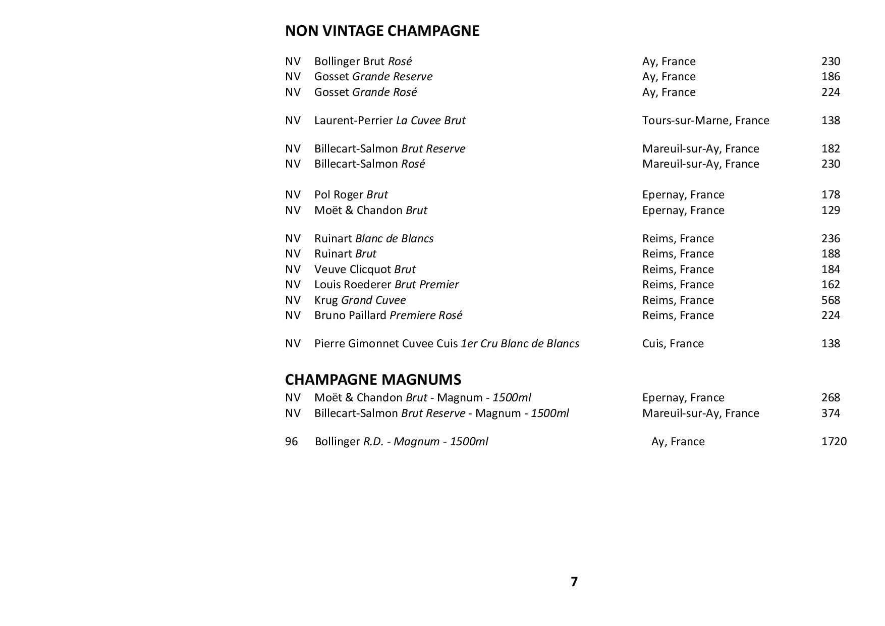 Sails Wine List 2020 Page 007