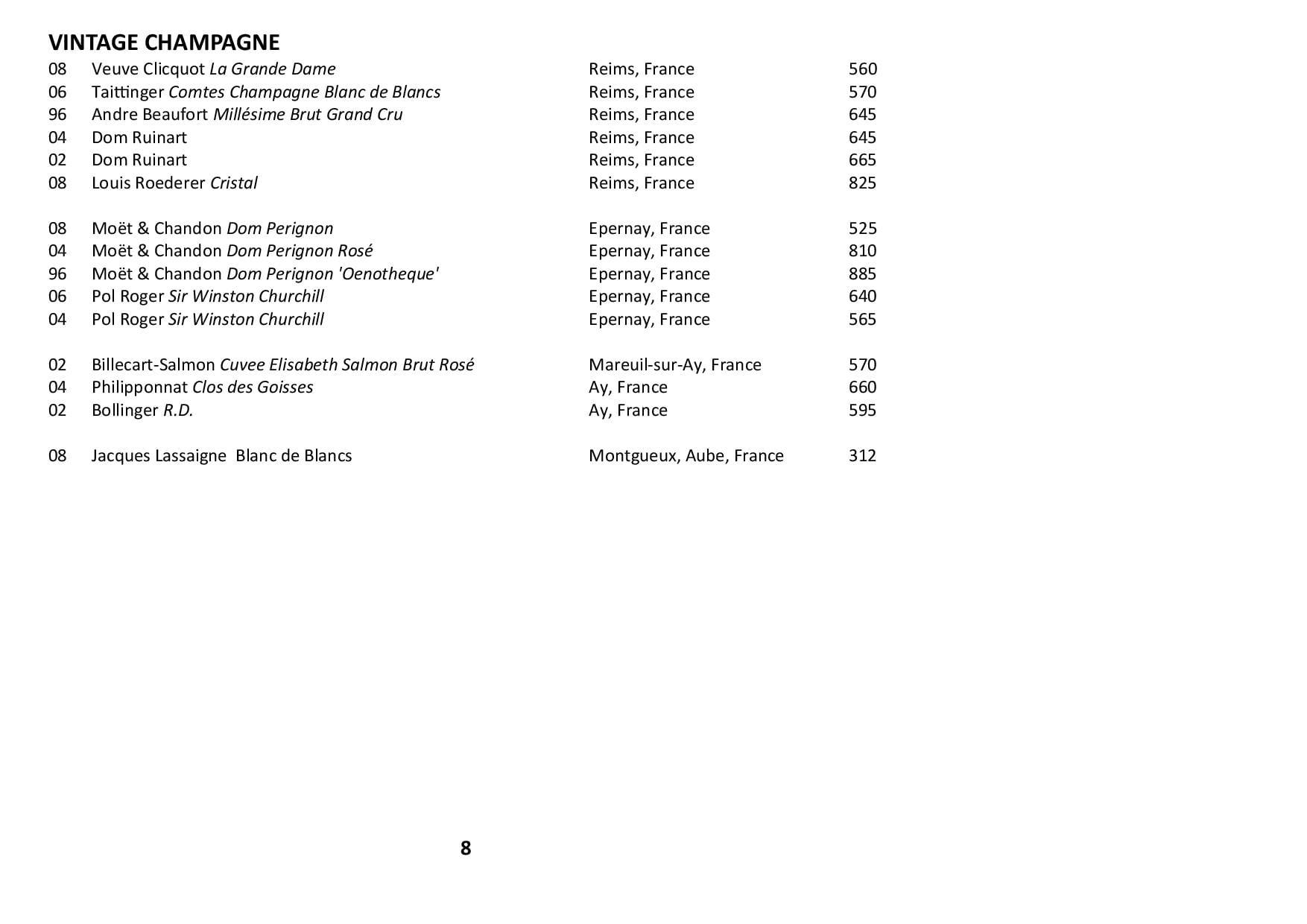 Sails Wine List 2020 Page 008