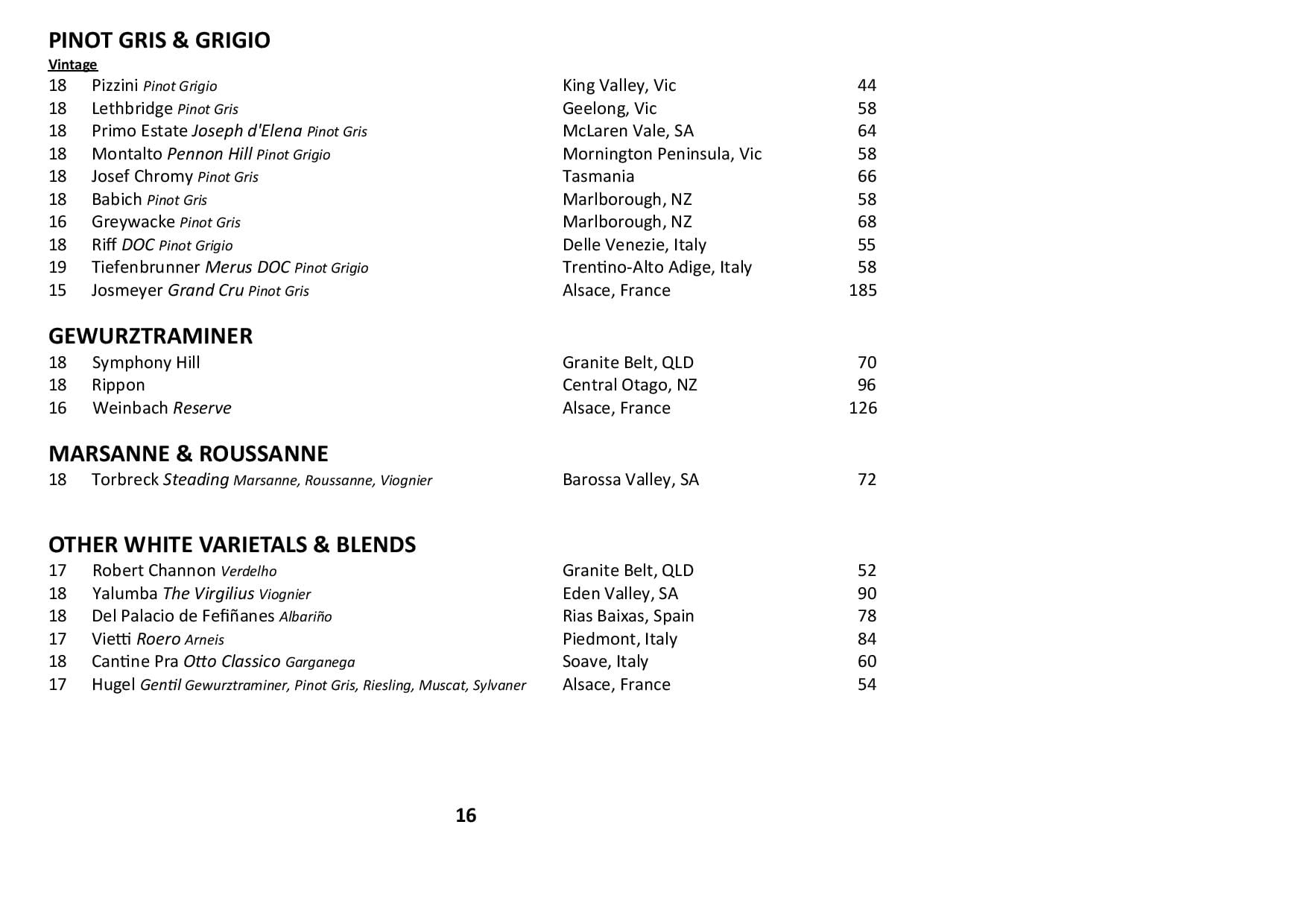 Sails Wine List 2020 Page 016