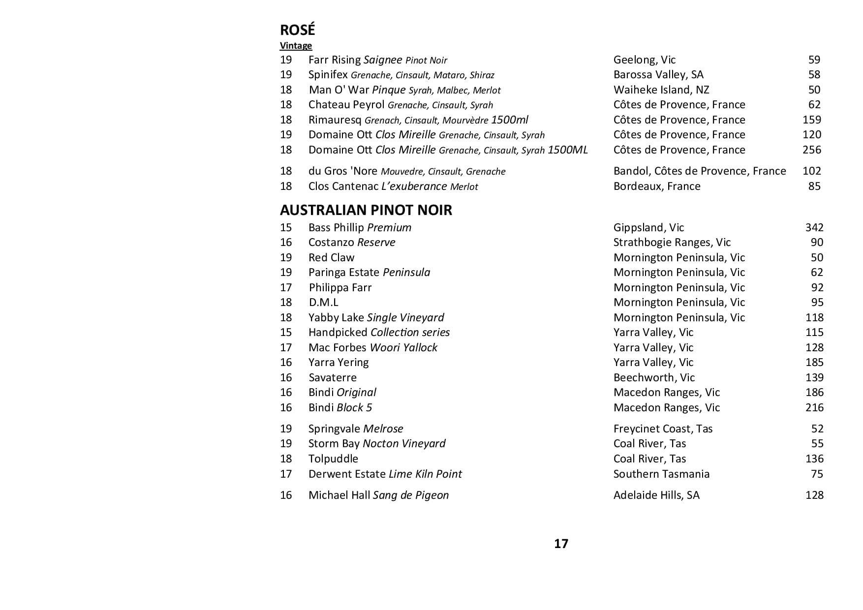 Sails Wine List 2020 Page 017