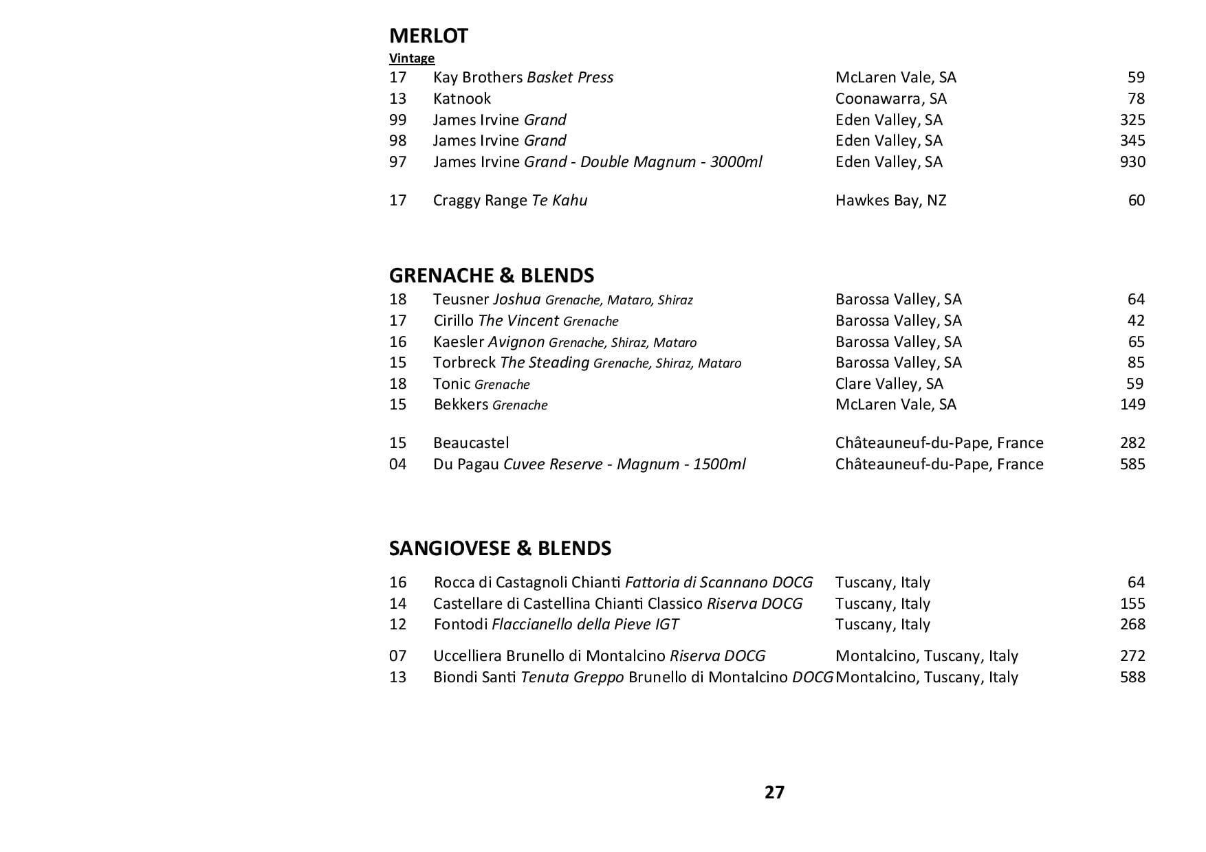 Sails Wine List 2020 Page 027