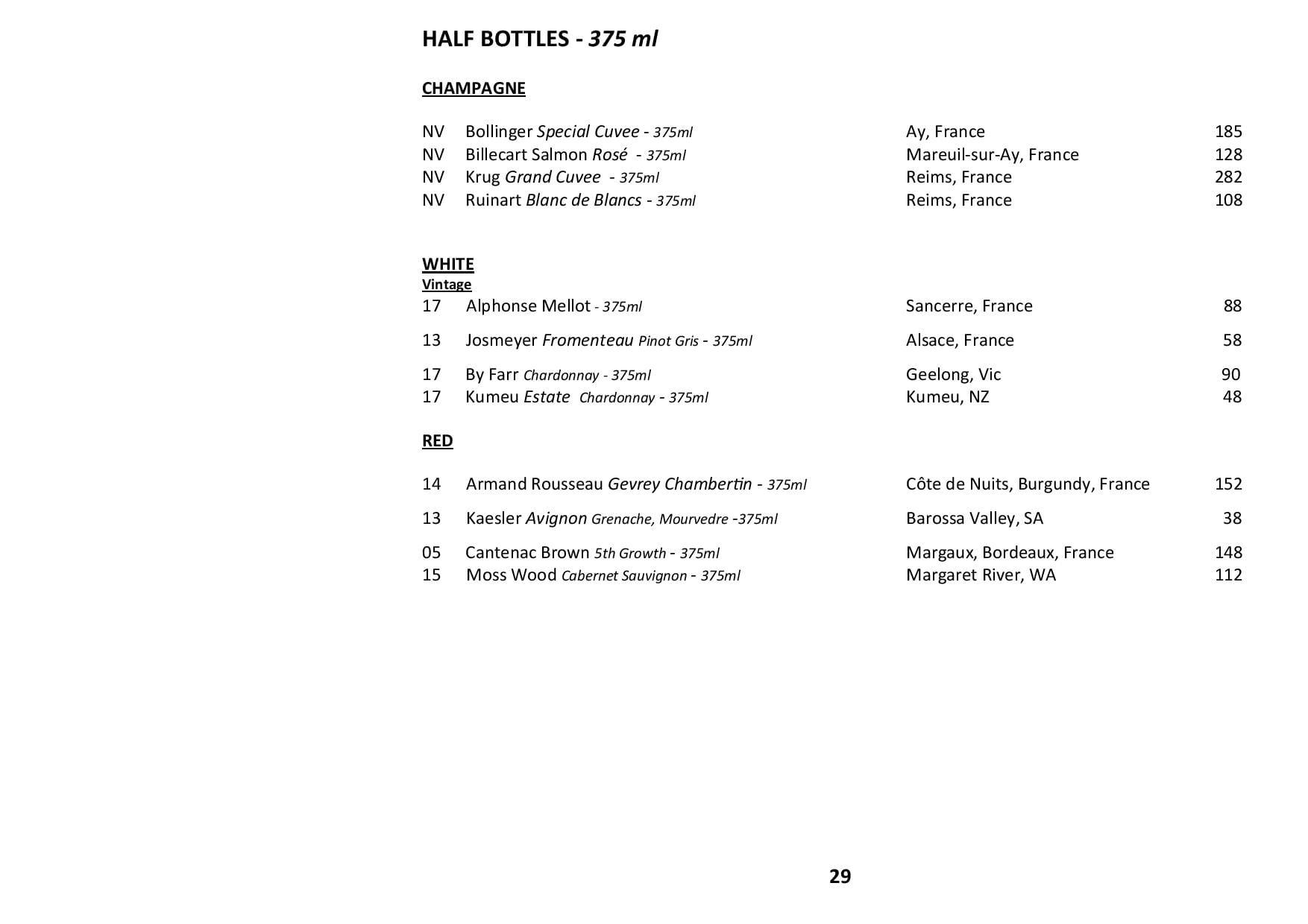 Sails Wine List 2020 Page 029