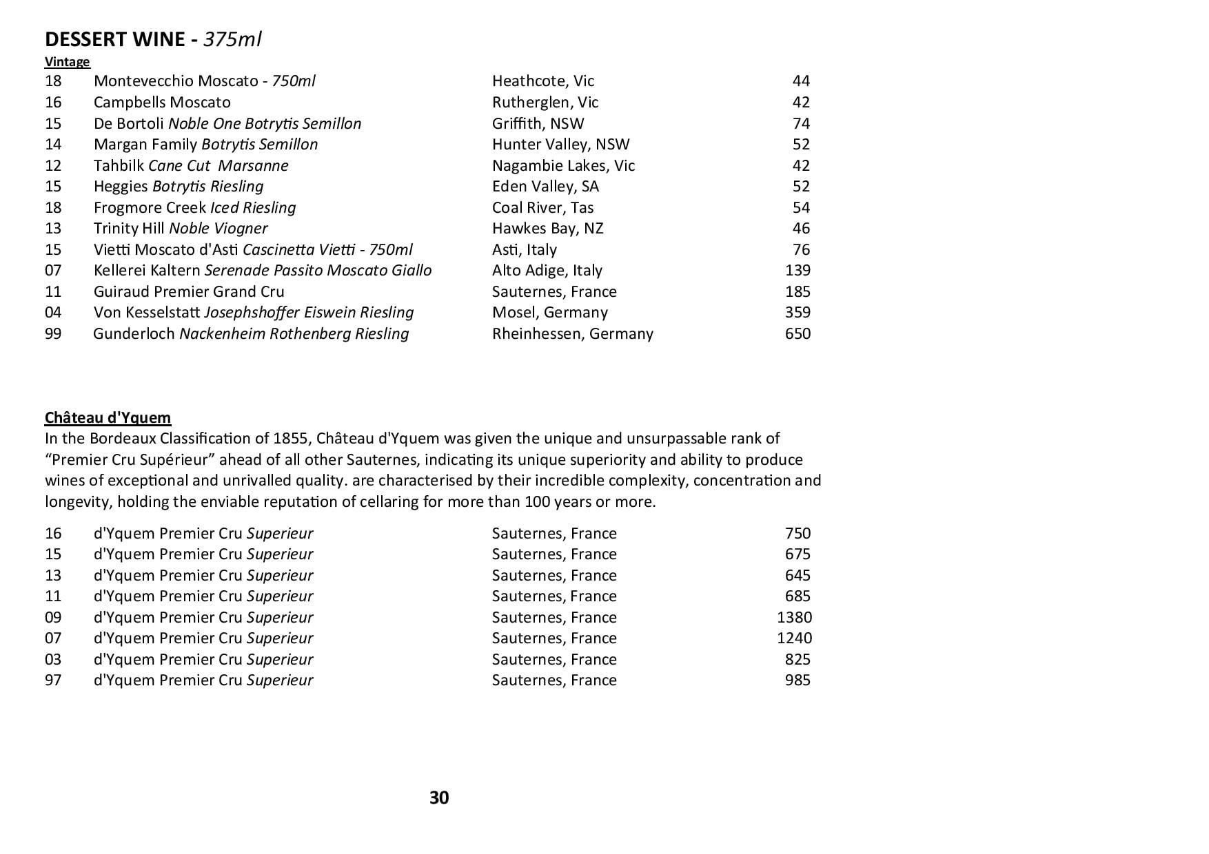 Sails Wine List 2020 Page 030