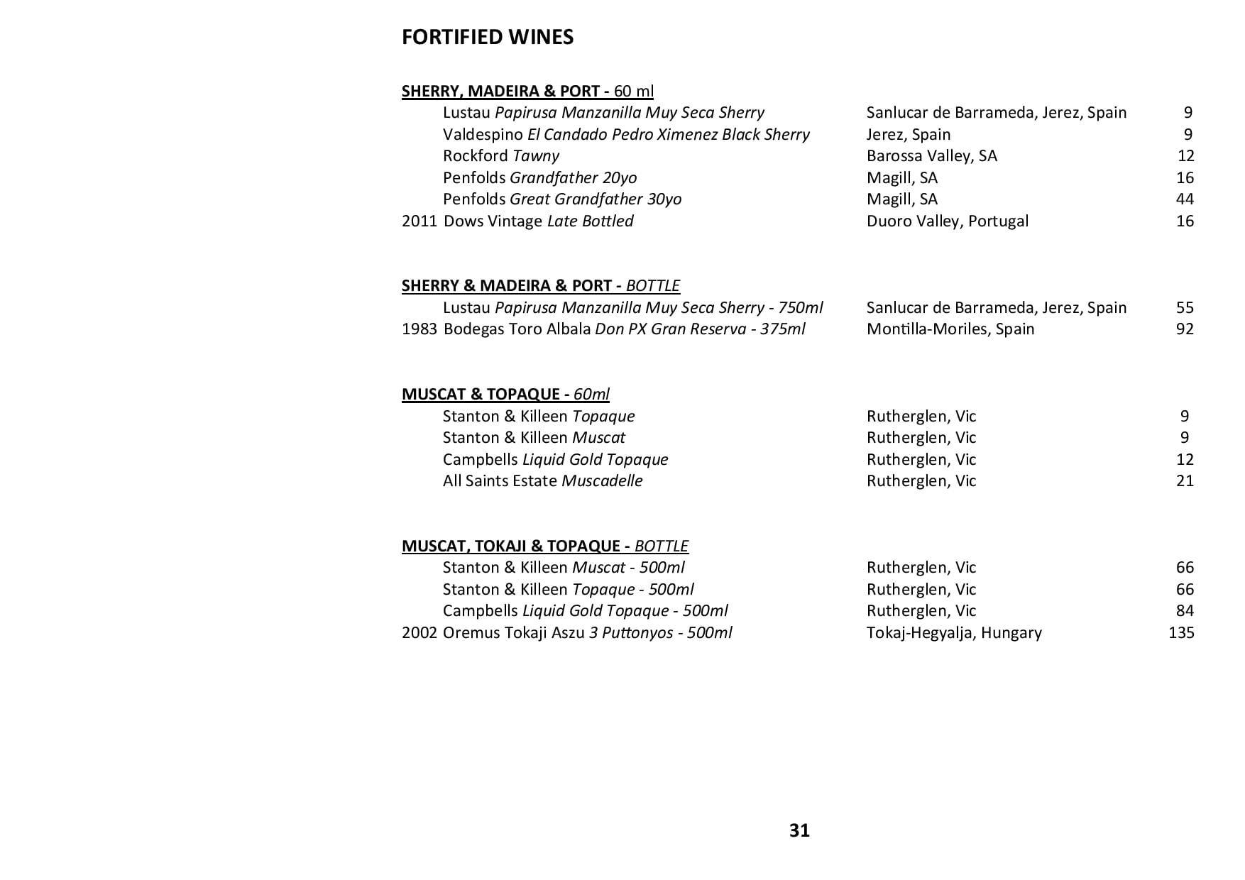 Sails Wine List 2020 Page 031