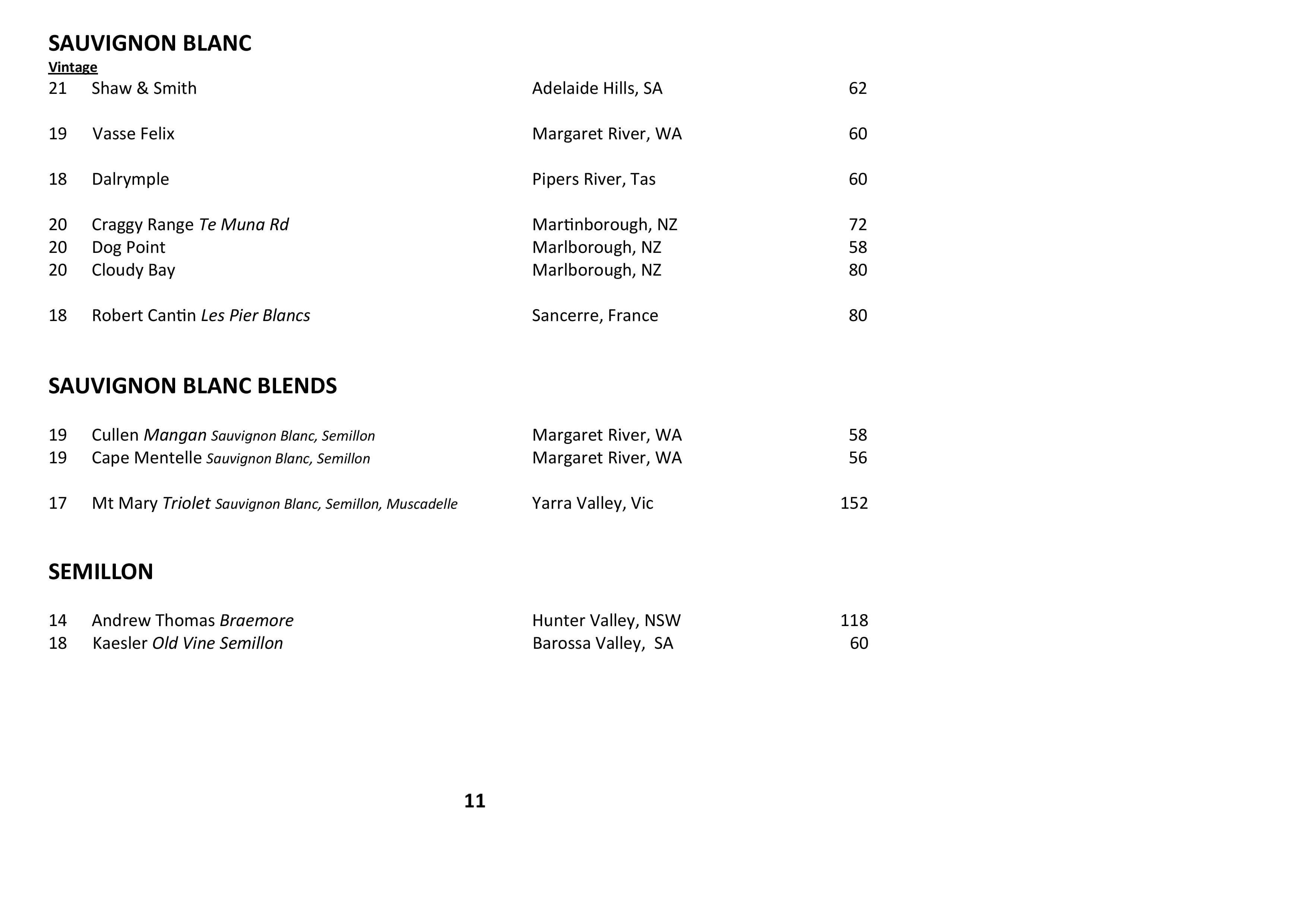 Sails Wine List 2021 Page 011