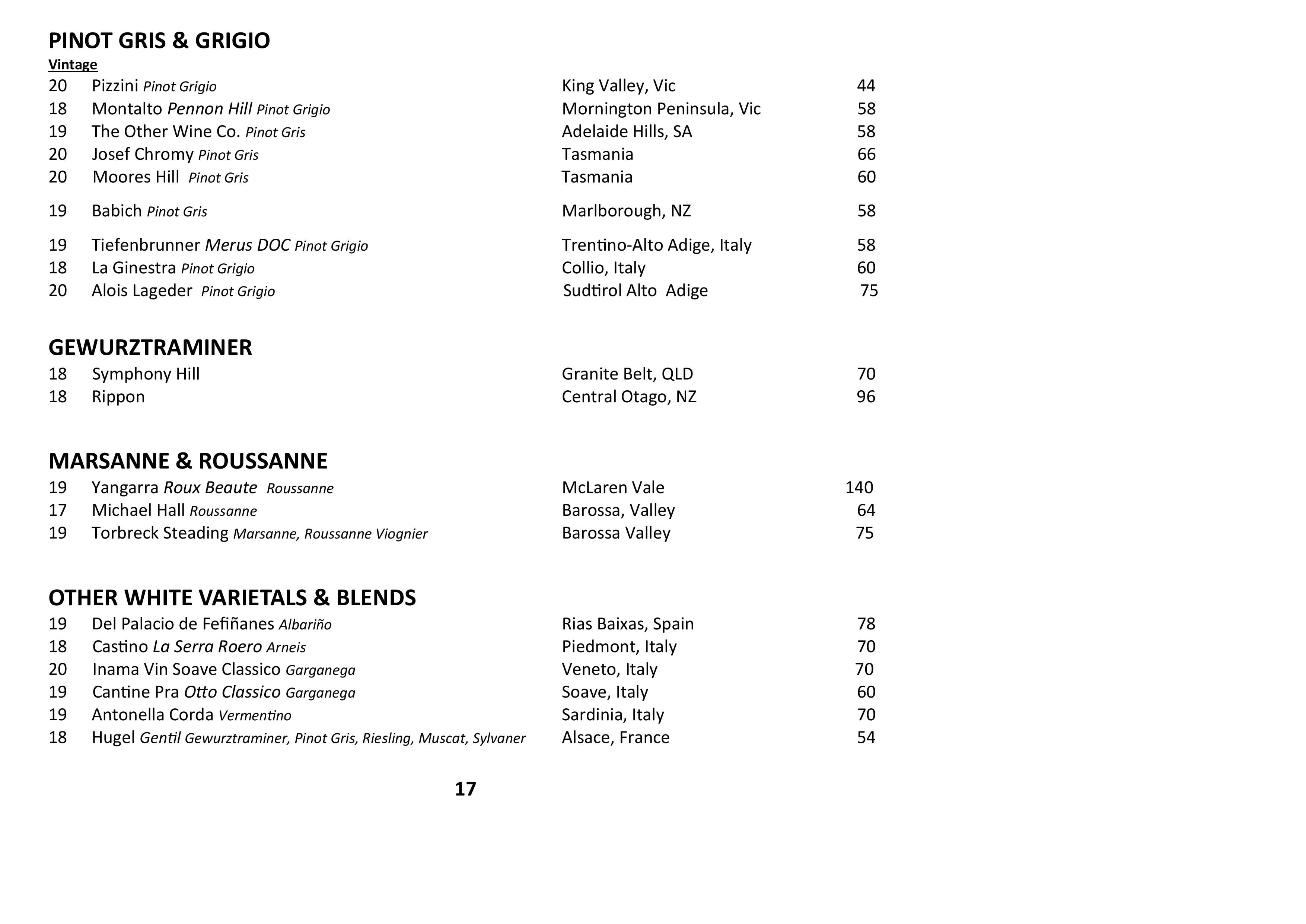 Sails Wine List 2021 Page 017